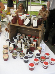Aunt Ginny's Jam at the Contoocook Farmers' Market