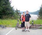 Biking near the University of Alaska, Juneau