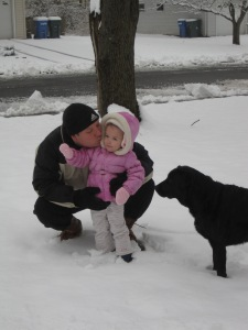 1-16-13 Snow Play w Daddy