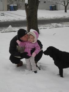 1-16-13 Snow Play w Daddy