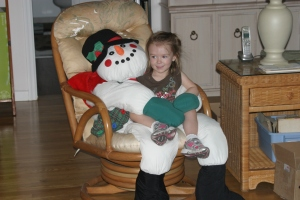 12-26-12 M with Florida Snowman