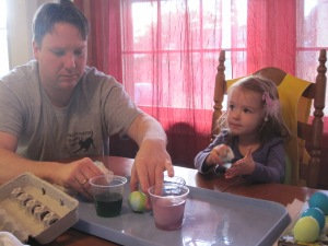 3-26-13 Dying Eggs with Dad