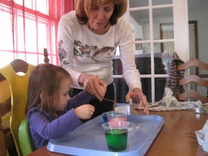 3-26-13 Dying Eggs  with Gma Jane