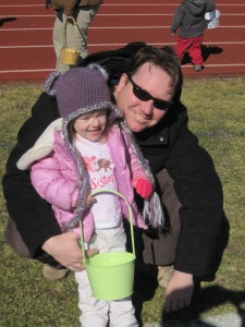 3-29-13 M and Dad Egg Hunt