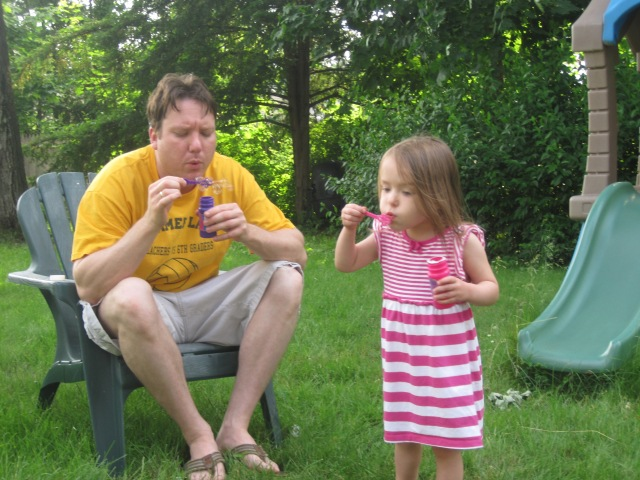 6-15-13 M and Dad Bubbles