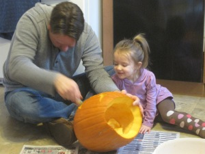 10-27-13 Pumpkin Carving 1