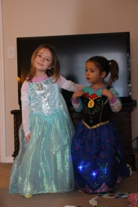 1-25-16 Elsa and Anna Dresses